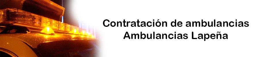 Contratación de ambulancias Lapeña