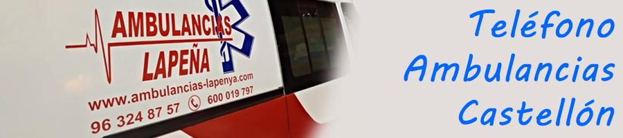 Teléfono de ambulancias en Castellón
