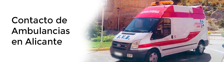 Contacto de Ambulancias en Alicante