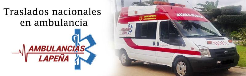 Traslados nacionales ambulancias