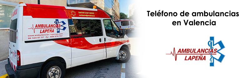Teléfono de ambulancias Valencia
