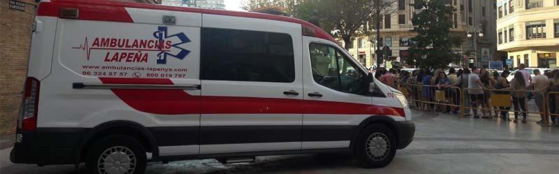 Ambulancias para eventos culturales Valencia
