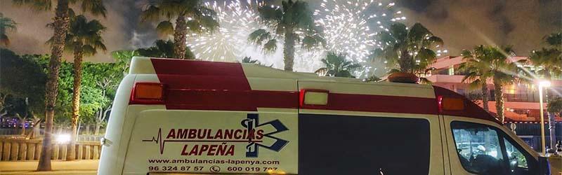 Ambulancias para fiestas patronales Valencia